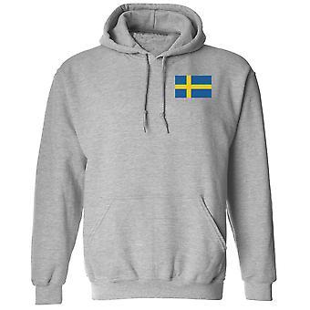 Ruotsin lippu brodeerattu Logo - huppari Huppari