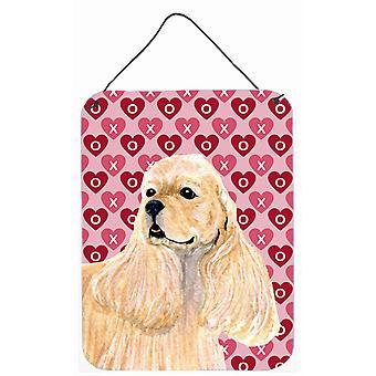 Cocker Spaniel Herzen Liebe und Valentinstag Wand oder Tür hängen Drucke