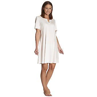 Feraud 3883133-10044 Women's Champagne White Night Gown Loungewear Nightdress