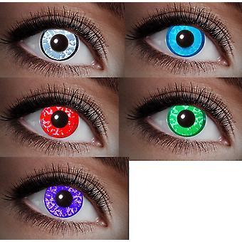 UV Kontaktlinse Schwarzlicht Diamant Edelstein