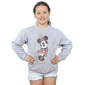 Disney Girls Minnie Mouse Offset Sweatshirt