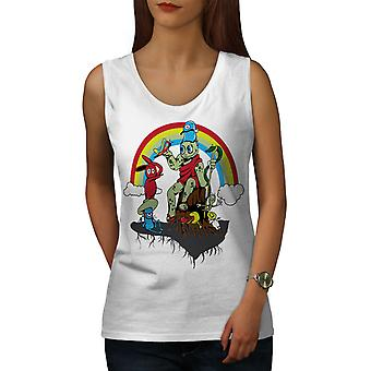 Rainbow Art Draw Women WhiteTank Top | Wellcoda