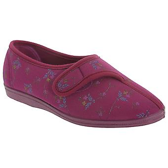 Sleepers Womens/Ladies Dora Touch Fastening Floral Slippers