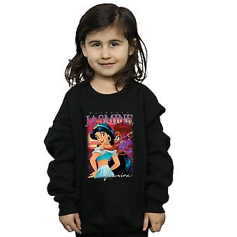 Disney Girls Aladdin Princess Jasmine Montage Sweatshirt