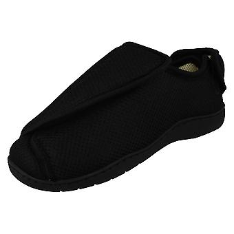 Unisex Spot On Perforated Cross Over Wide Fitting Slippers CT-16005