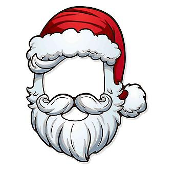Father Christmas Santa 2D Card Open Fancy Dress Mask