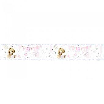Simon Elvin Baby Girl Foil Banner (Pack of 6)