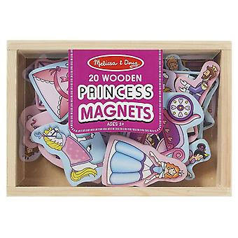 Melissa & Doug 20 tre prinsesse magneter i en boks