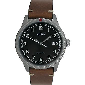 Aristo men's watch automatic vintage watch wristwatch 3 H 190 leather