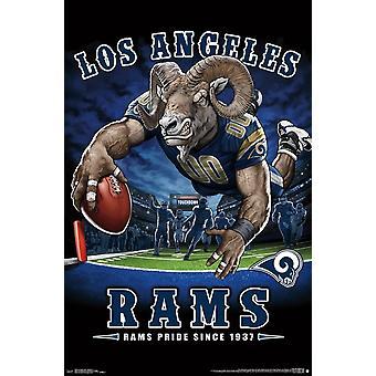 Los Angeles Rams - maalialueelle Juliste Tulosta