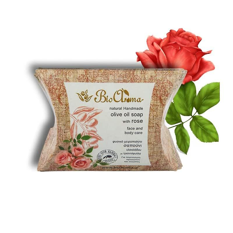 Handmade Olive oil soap for face and body - Roses 90gr.