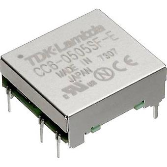 TDK-Lambda CC-6-4812DF-E DC/DC omvandlare (tryck) 48 V DC-12 V DC, 12 V DC, 15 V DC 0,25 A 6 W nej. av utgångar: 2 x