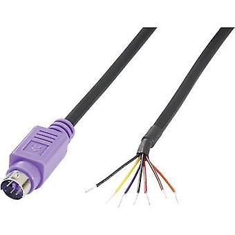 BKL electronic 0204097 mini DIN conector mufă, drept număr de pini: 6 violet 1 buc (i)