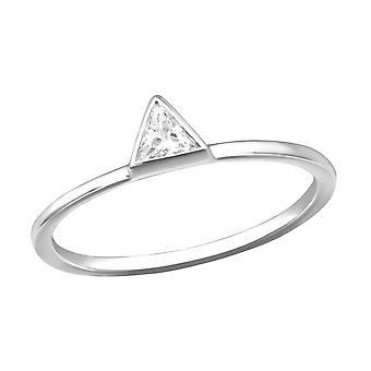 مثلث - 925 الجنيه الاسترليني خواتم الفضة مرصعة بالجواهر - W30554X