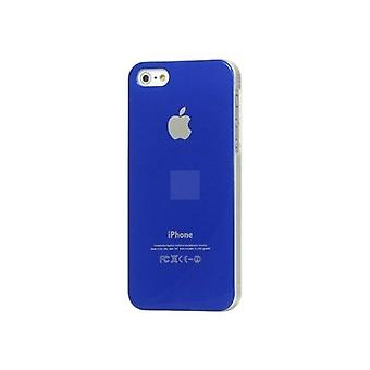 IPhone 5 Hard Plastic Cover Back Case with Apple Logo - Dark Blue