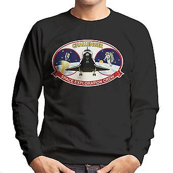 NASA STS 41B Challenger misión parche camiseta de los hombres