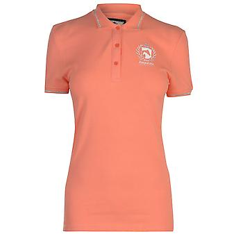 Requisite Womens Classic Polo Shirt Short Sleeve Tee Top Cotton Button Placket