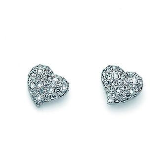 Oliver Weber Post Earring Darling Rhodium Crystal