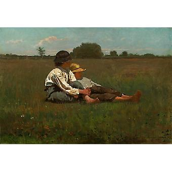 Boys in a Pasture, Winslow Homer, 38.9 x 57.2 cm