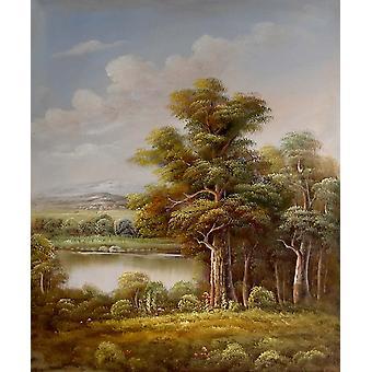 风景,油画画布,50x60 厘米