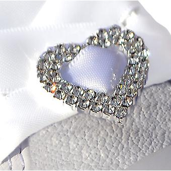 Large Crystal Heart Shoe Charms