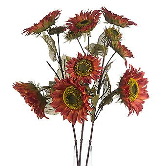 Hill Interiors Autumn Faux Sunflower Spray