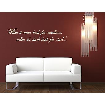 Rainbows and Stars Wall Decal Quote