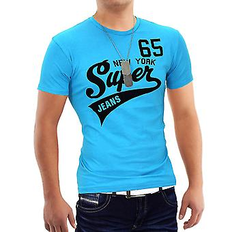Män sommar T-Shirt Polo Stretch Slim fit Clubwear tröja Super 65