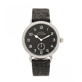 Elevon Northrop Wool-Overlaid Leather-Band Watch - Charcoal/Black