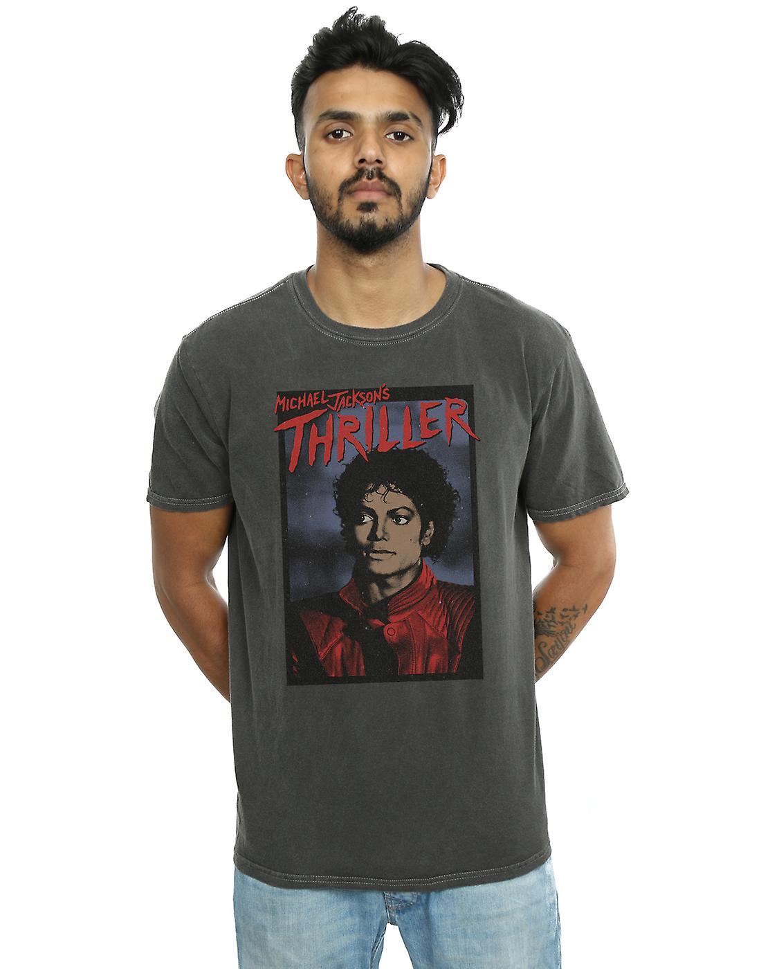 Michael Jackson Men's Thriller Poster Washed T-Shirt