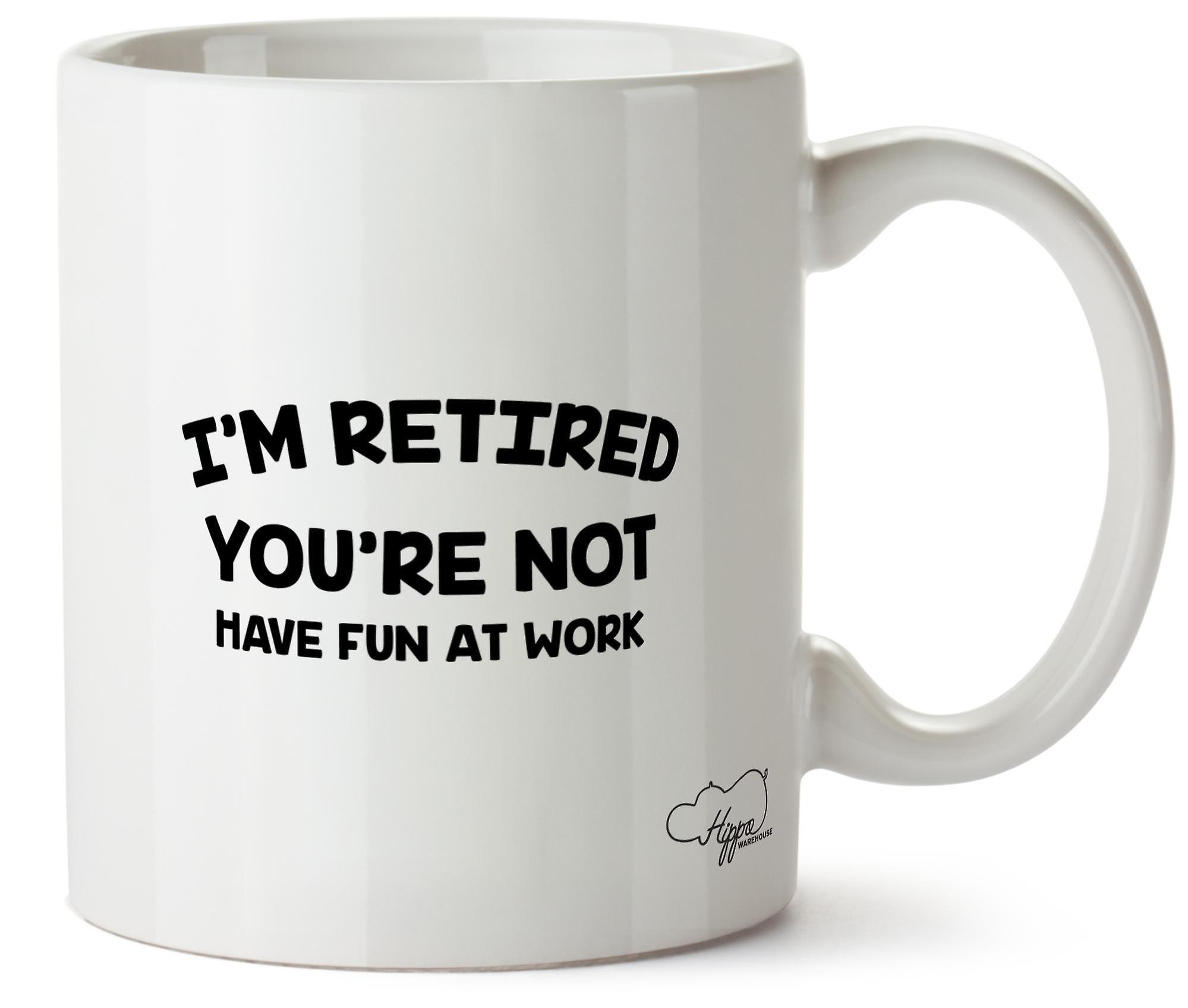 Hippowarehouse, я пенсию, вы не будете веселиться в работе печатных кружка Кубок керамические 10oz