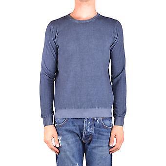 Dondup Ezbc051090 Men's Blue Cotton Sweater