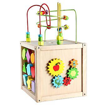 Classic World - Multi-Activity Cube, Baby Bead Maze Multi-purpose Educational Toys for Kids