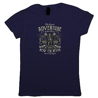 The Great Adventure Womens T-Shirt | Hope Laughter Love Good Time Vibes Memories Life  | Hike Country Canyon Mountain Trek Gear Wilderness | Outdoor Gift Her Mum
