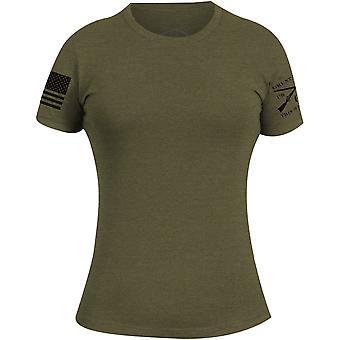 Grunt Style naisten Basic Crewneck T-paita-sotilaallinen vihreä
