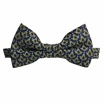 Masonic Regalia Silk Bow Tie with Square and Compass
