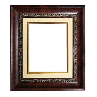 20x25 cm or 8x10 inch, photo frame in dark red