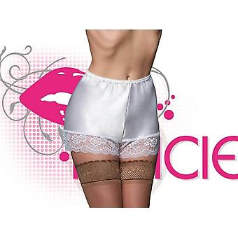 Nancies Lingerie Luxury Satin French Cami Knickers with Swiss Lace