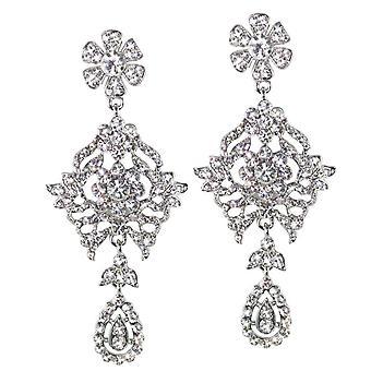 Ewige Kollektion majestätische klar Diamante Silberfarbe Tropfen Ohrhänger