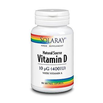 Solaray Vitamin D 400iu Softgels 90 (1224)