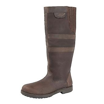 Woodland Womens/Ladies Hailey Waxy Leather Gusset Country Boot