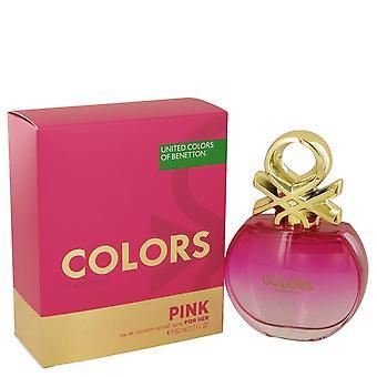 الألوان الوردي eau de toilette رذاذ بواسطة benetton 539293 80 مل