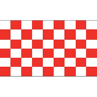 5ft x 3ft Flag - Chequered - red and white