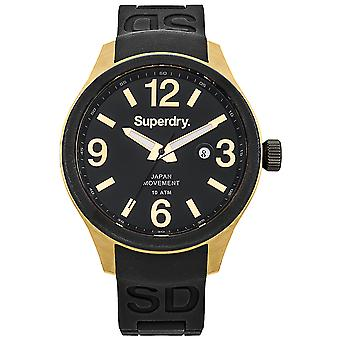 Superdry scuba luxe Japanese Quartz Analog Man Watch with SYG132BW Rubber Bracelet