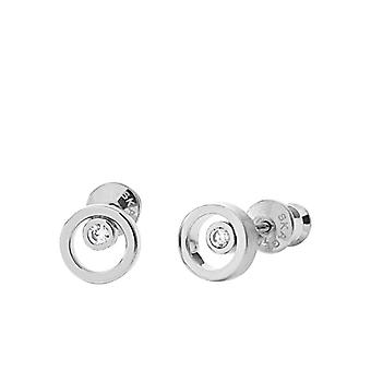 Skagen Stainless Steel Women's Earrings with Round Cubic Zirconia