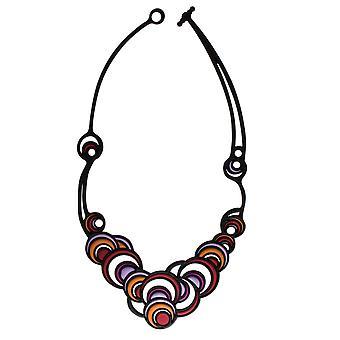 باتوتشا الجلد المجوهرات الأرجواني الرقص الدوائر قلادة 8-01-01-01-MULTI3