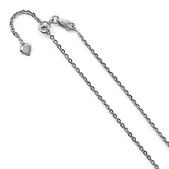 2mm 925 Sterling Silver Polished Lobster Claw Closure Adjustable Curb Chain Necklace Jewelry Gifts for Women - Length: 2