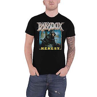 Paradox T Shirt Heresy Band Logo new Official Mens Black