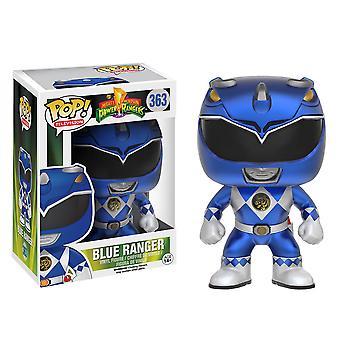 Power Rangers blauwe Ranger metallic U.S. exclusieve pop! Vinyl