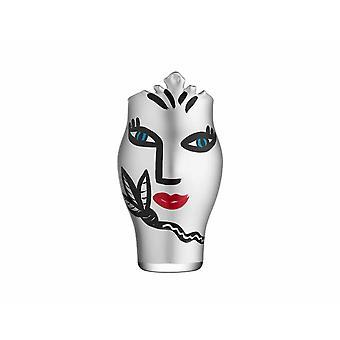 Kosta Boda-Open Minds-Silver vase Design Ulrica Hydman Vallien